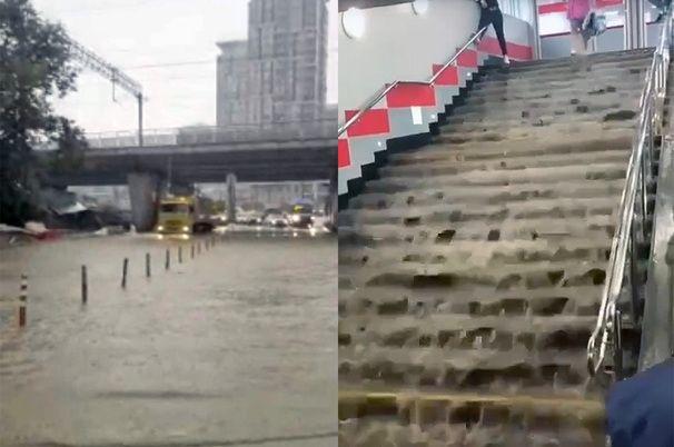 На северо-востоке Москвы снова затопило часть улиц