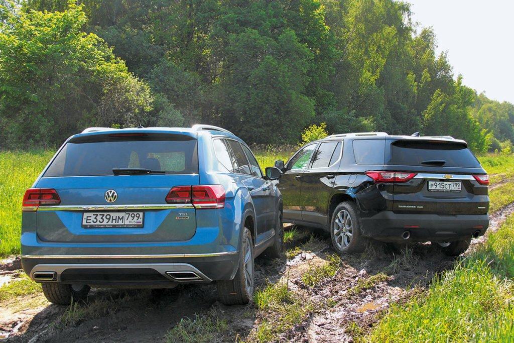 Chevrolet Traverse против Volkswagen Teramont. Кого выбрать, если нужен большой семейный внедорожник