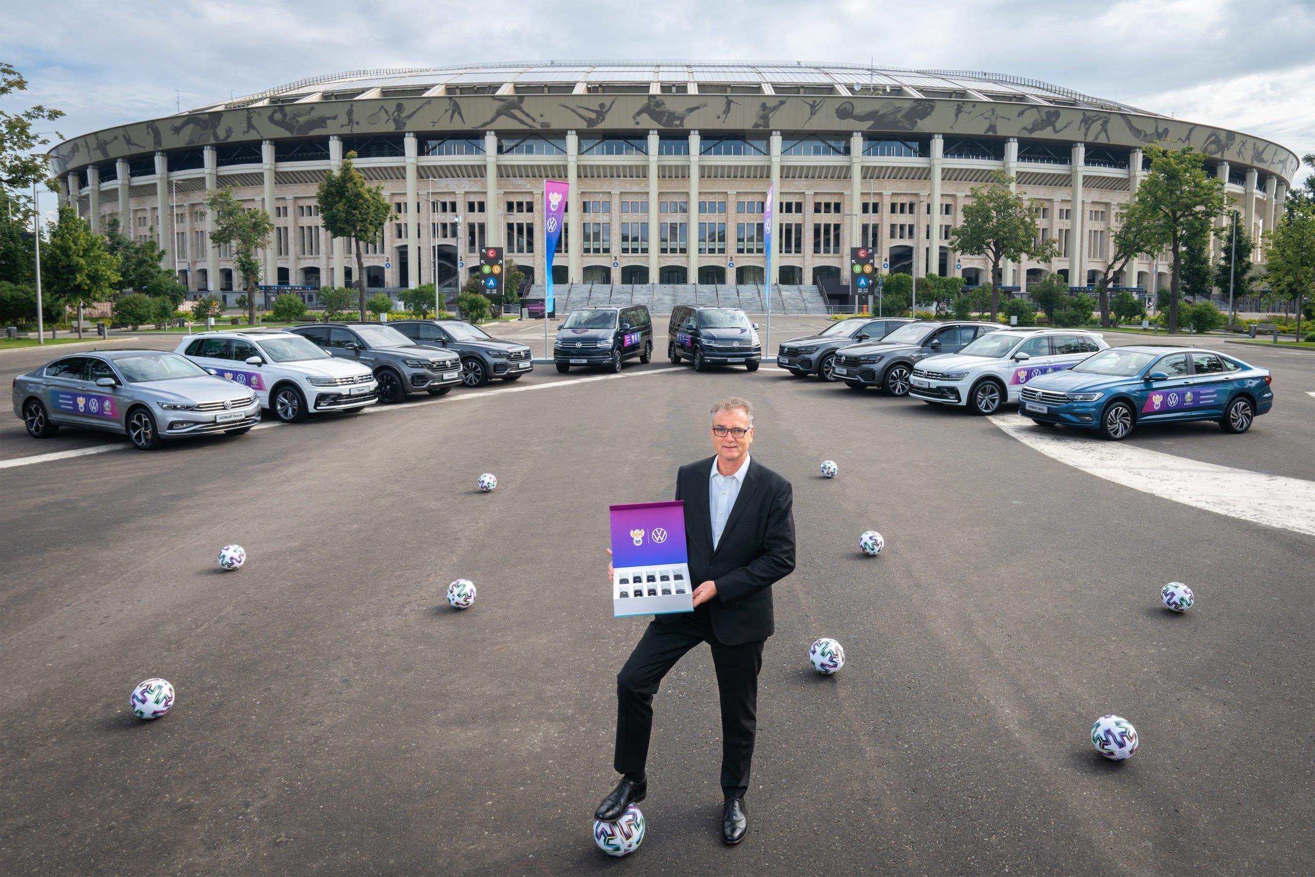Российский футбольный союз получил новинки от Volkswagen