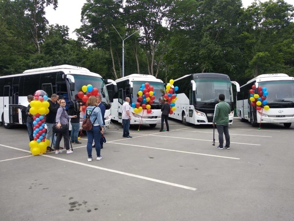 Автобусы Higer пополнили туристический автопарк Южно-Сахалинска