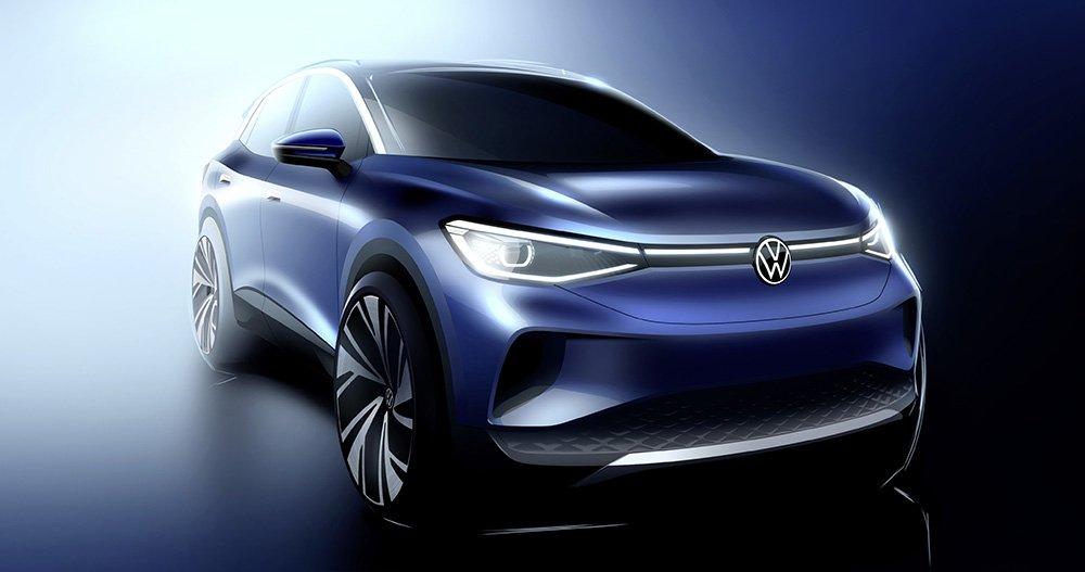 Volkswagen рассекретил внешность нового электрокроссовера ID.4