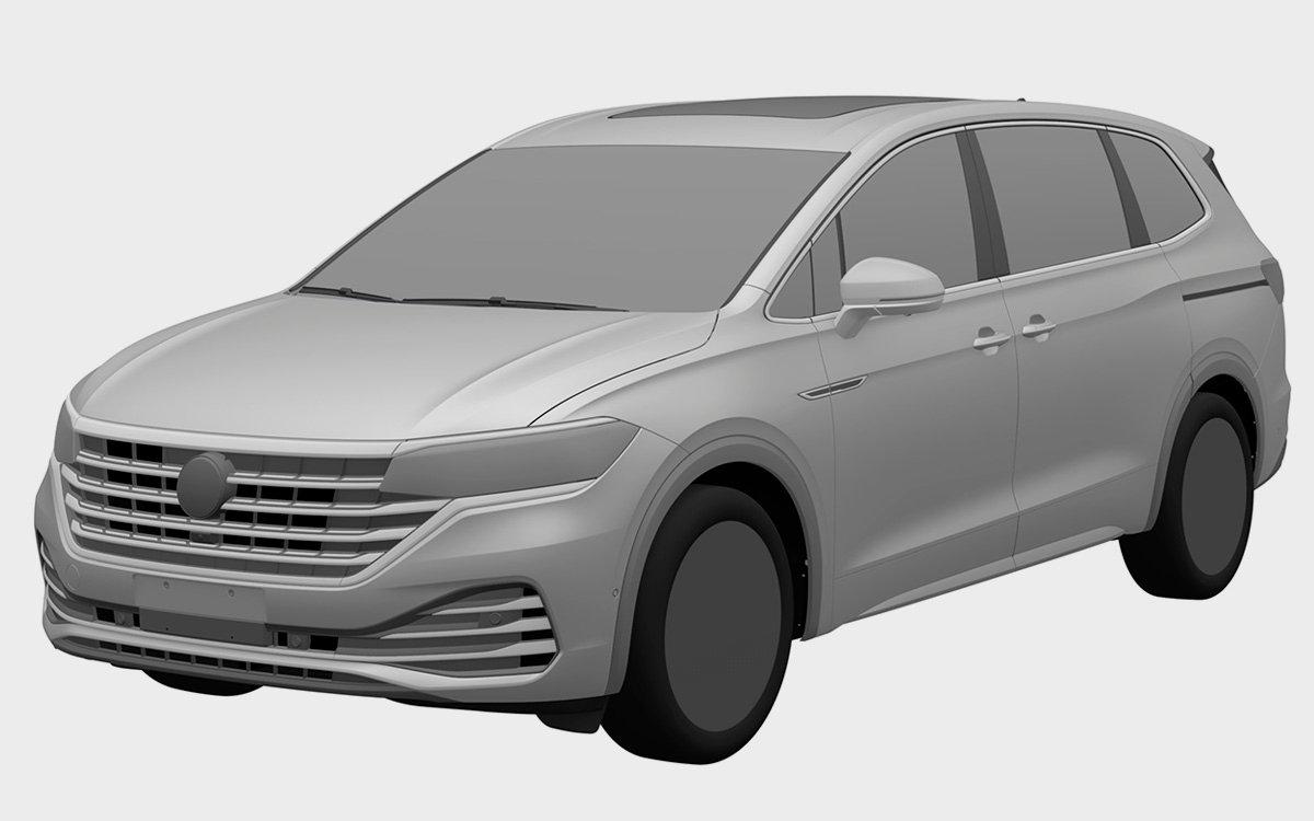 Volkswagen запатентовал в России семиместный минивэн