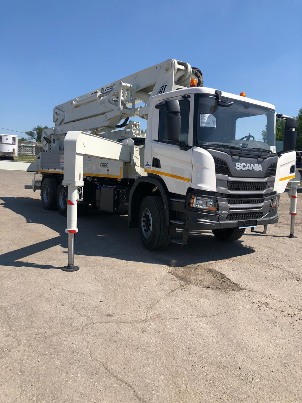 Точная синхронизация: шасси Scania с бетононасосом CIFA