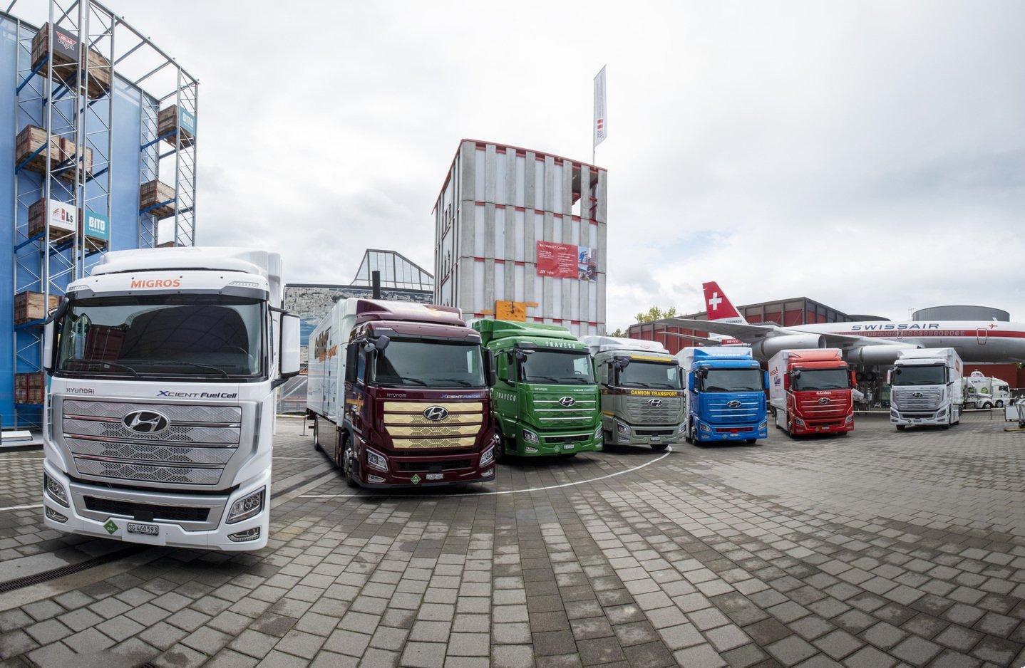 Hyundai Motor доставила первую партию тяжелых грузовиков на топливных элементах Xcient Fuel Cell в Швейцарию