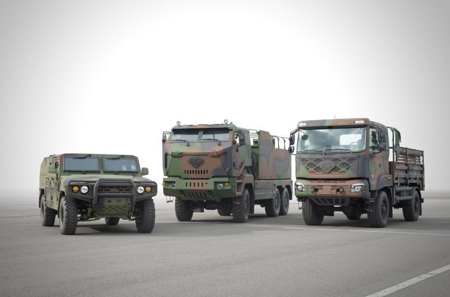 Kia выпустит военные внедорожники и грузовики