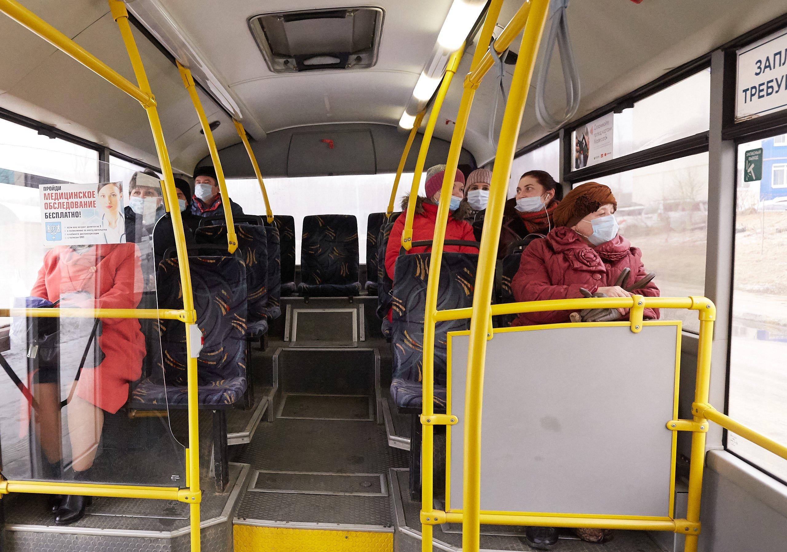 В Подмосковном транспорте выследят пассажиров без масок