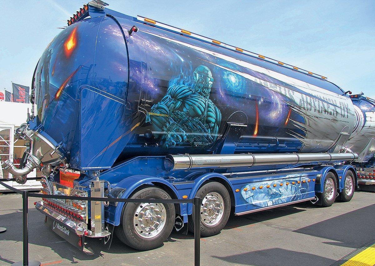 Аэрография на грузовиках. Красота— это страшная сила