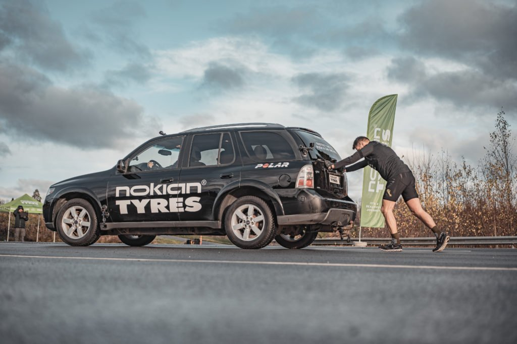 В Финляндии установлен мировой рекорд по толканию автомобиля