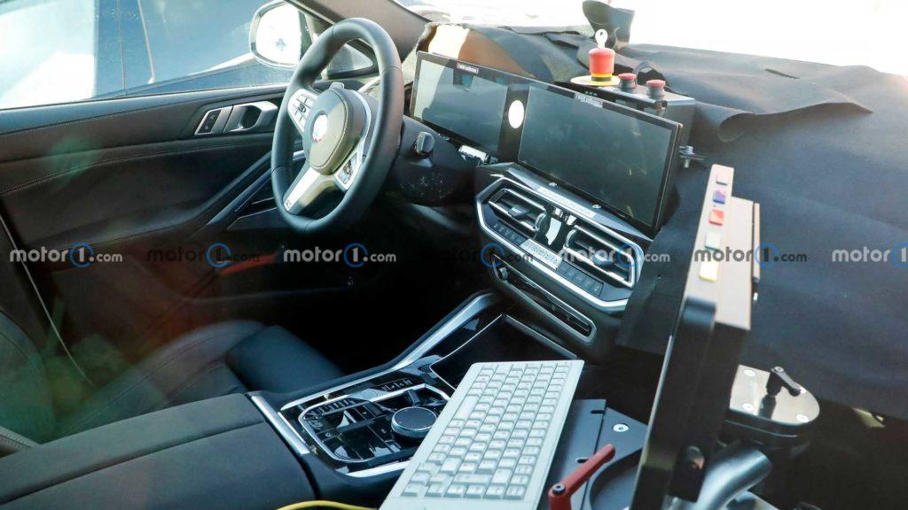 Появились снимки салона обновлённого кроссовера BMW X6
