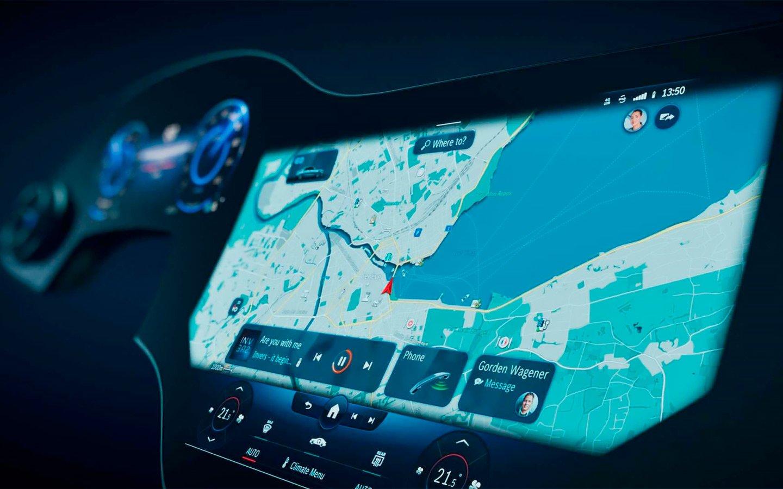 Mercedes-Benz показал салон нового электромобиля EQS