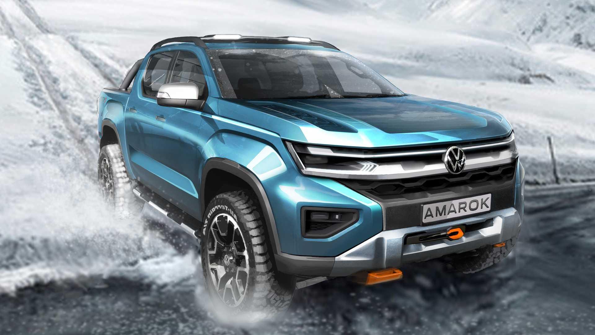 Volkswagen раскрыл внешность нового пикапа Amarok