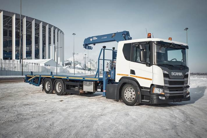 На базе сверхнизкого шасси Scania построили эвакуатор