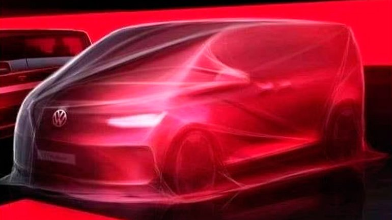 Volkswagen опубликовал первые эскизы нового минивэна Multivan