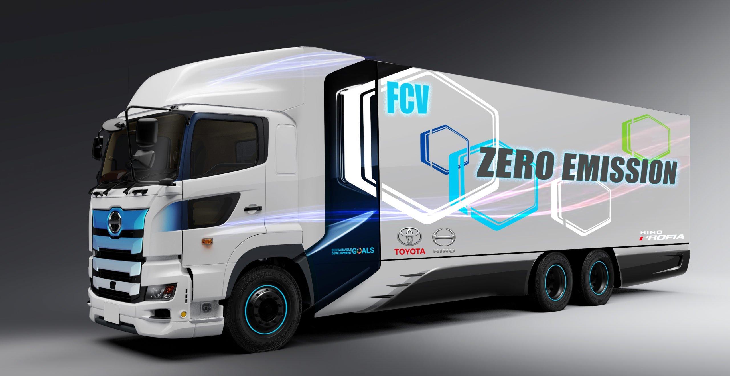 Toyota и Hino договорились о совместной разработке тяжелого грузовика на топливных элементах