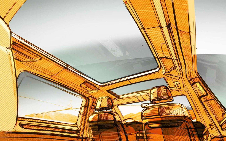 Новый Volkswagen Transporter получит панорамную крышу и трансформируемый салон