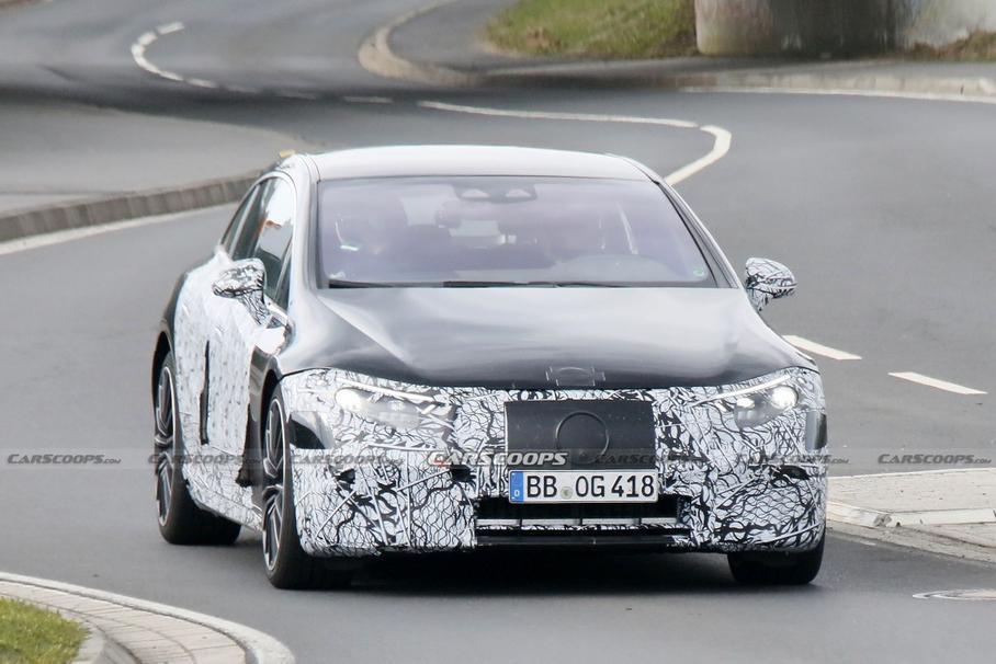 Впервые был замечен «заряженный» электрокар Mercedes-AMG EQS