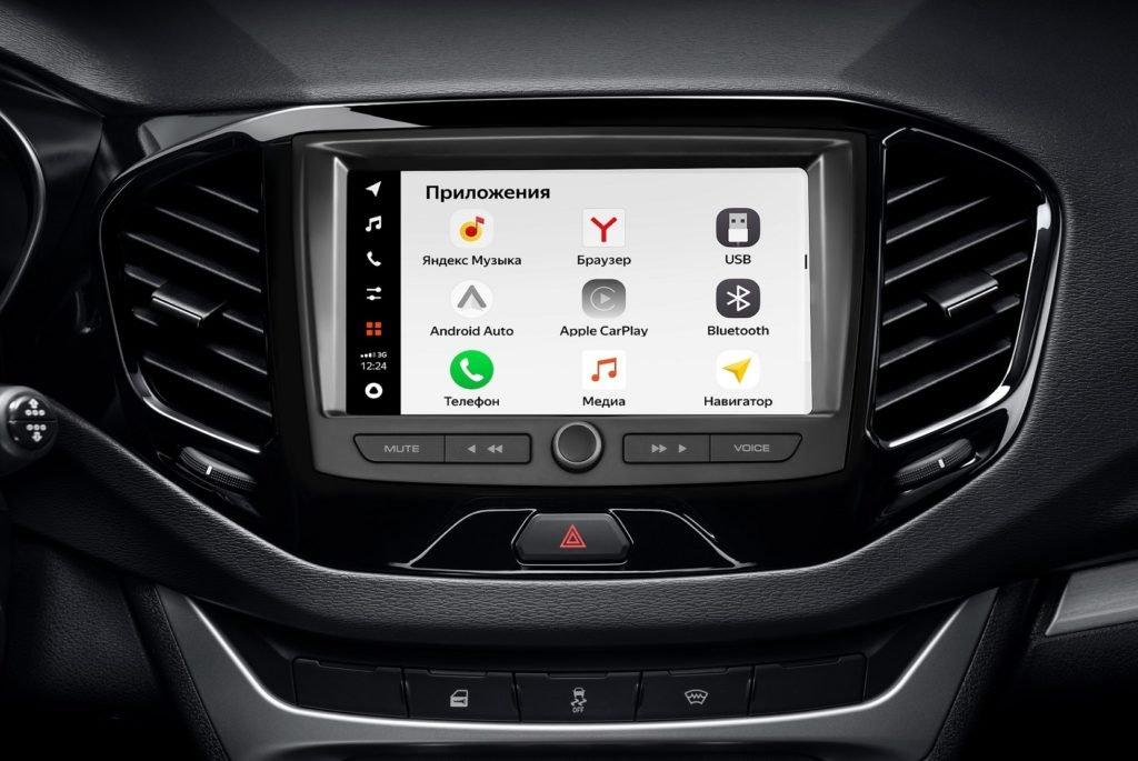 Названы цены на автомобили Lada с новой мультимедиа-системой EnjoY Pro