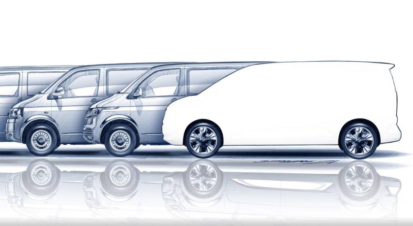 Новый Volkswagen Multivan впервые показали на видео