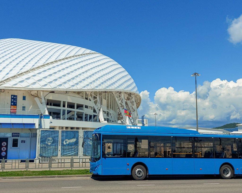 В Сочи начинается тестовая эксплуатация новых газовых автобусов Volgabus