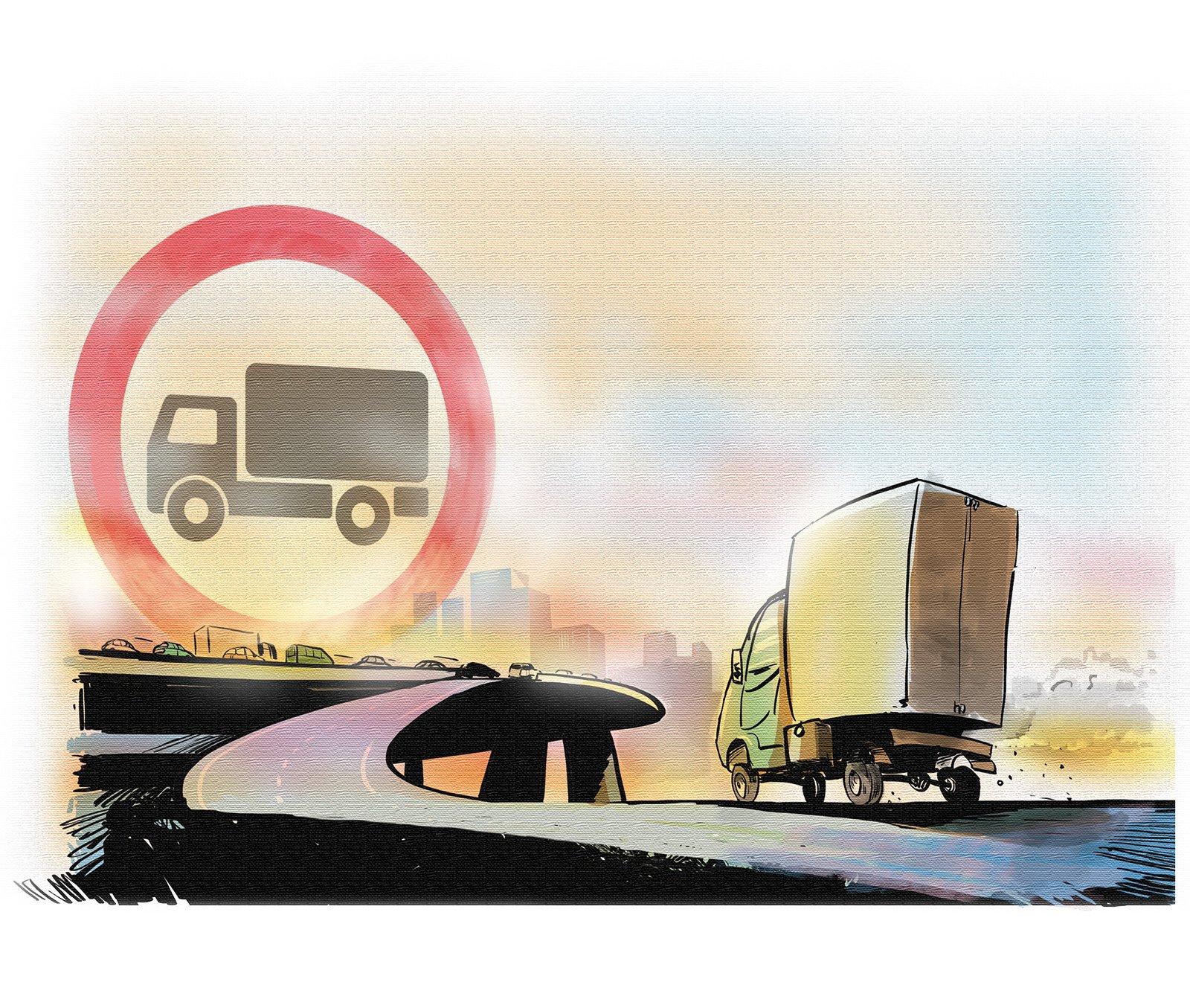 Проезд грузовиков по МКАД все таки запретили: что об этом говорят перевозчики