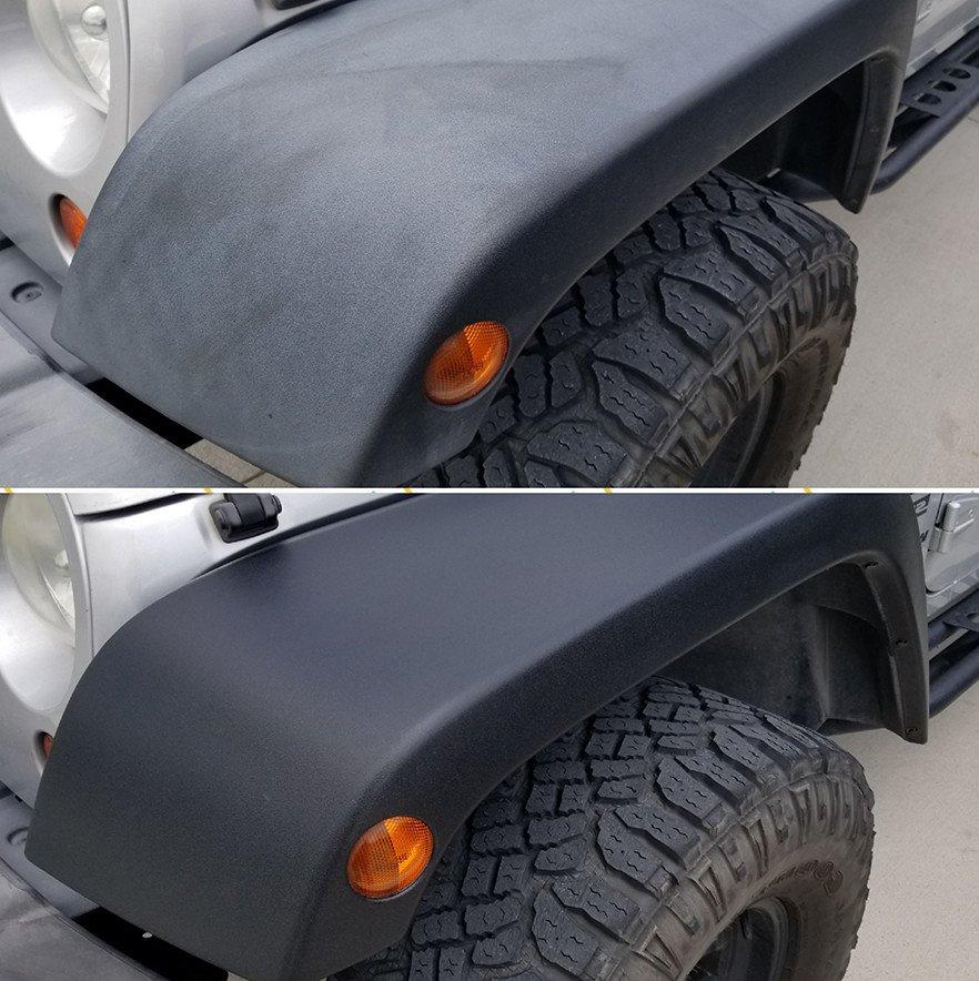 Как вернуть неокрашенному пластику кузова черный цвет?