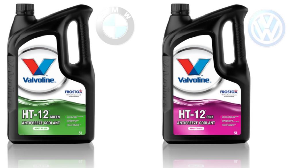 Valvoline представила антифризы HT-12 Green и Pink, разработанные специально для современных двигателей