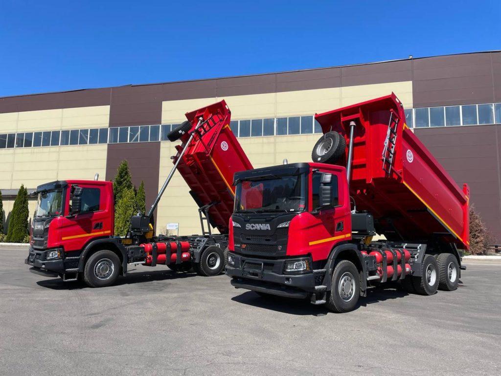 Газовые самосвалы Scania приступили к работе в Белгороде